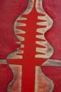 """Terence Main's """"Red Twiddler"""" chair, detailed view"""