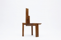 "Dominique Zimbacca's ""Sculpture"" chair, full diagonal view"
