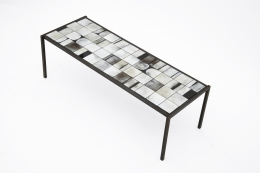 Mado Jolain's ceramic coffee table diagonal view from above