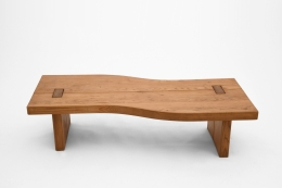 Maison Regain's coffee table, full straight from from above