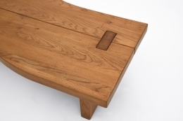 Maison Regain's coffee table, detailed view of top