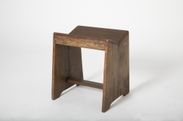 Pierre Jeanneret's stool, full diagonal view from above