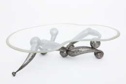 René Broissand's sculptural coffee table view from higher