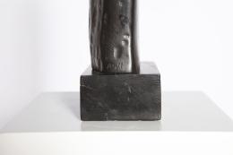Alexandre Noll's ebony sculpture, detailed view of signature
