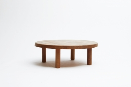 """Pierre Chapo """"T02M"""" coffee table straight view"""