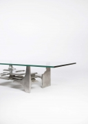 Gérard Mannoni's sculptural coffee table cropped view of one side of the table