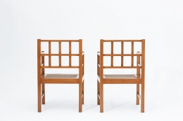 Francis Jourdain's pair of armchairs back view