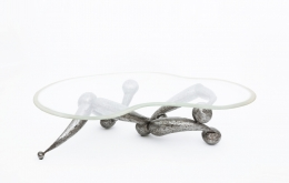 René Broissand's sculptural coffee table straight view
