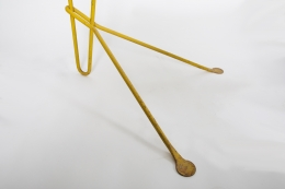 Michel Buffet's yellow floor lamp, detailed image of base and feet