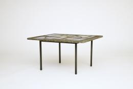Jacques Avoinet's coffee table, diagonal view