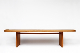 """Pierre Chapo's """"T20B"""" dining table straight view"""