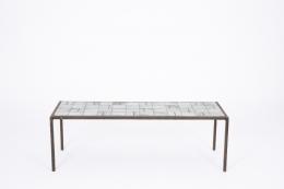 Mado Jolain's ceramic coffee table, full straight view