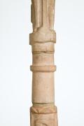 Pierre Blanc's ceramic floor lamp, detailed view of ceramic