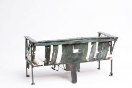Sylvain Contini's sculptural bench back view