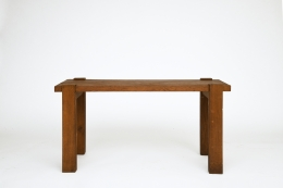 Unknown artist's table, straight front view