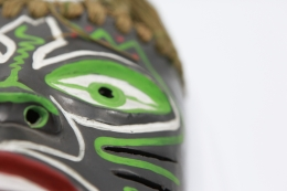 Colette Guéden's ceramic mask detailed view of right side