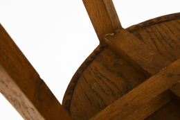 Unknown Artist's set of 4 stools, detailed view of underneath seat