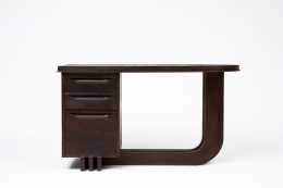 Francisque Chaleyssin's wooden desk straight view