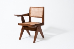 "Pierre Jeanneret's ""Classroom"" chair diagonal view"