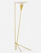 Michel Buffet's yellow floor lamp, full side view