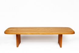 """Pierre Chapo's """"T20B"""" dining table straight view from above"""