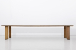 """Charlotte Perriand's """"Table a gorge"""" dining table, full straight view"""
