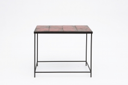 """Pierre Sabatier's """"Volvic Sang"""" table, full straight view"""