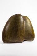 Les 2 Potiers' ceramic sculpture side view