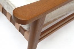 Jacques Adnet's armchair arm detail