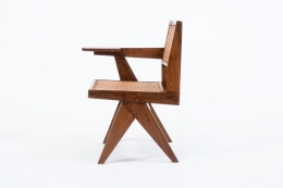 "Pierre Jeanneret's ""Classroom"" chair side view"