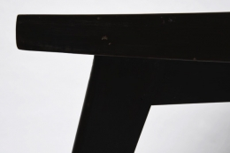 Pierre Jeanneret's dining table, detailed view of corner