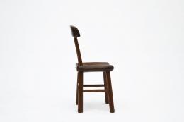 Alexandre Noll's wooden chair, side view