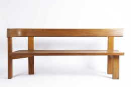 "Pierre Chapo ""S35D"" bench straight view"