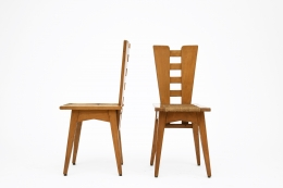 Henry Jacques Le Même's Set of 4 chairs, side and front view of 2 chairs