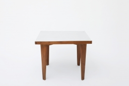 Pierre Jeanneret's square table front view from above