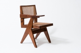 "Pierre Jeanneret's ""Classroom"" chair diagonal view"