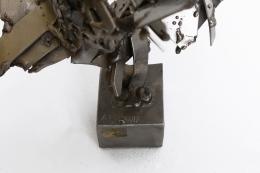 Albert Feraud's sculpture detailed image of signature on base
