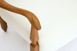 Guillerme et Chambron's pair of armchairs, detailed view of armrest