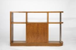 Jean Royère's bookshelf, full straight view
