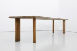 """Charlotte Perriand's """"Table a gorge"""" dining table, full diagonal view from below"""