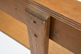 George Candilis' bench detail of joinery on back