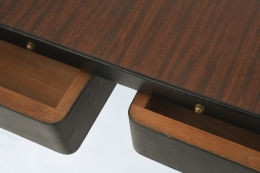 Jacques Adnet desk detail