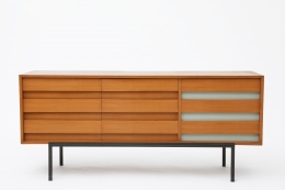 Bernard Marange's sideboard, full front view with all drawers closed