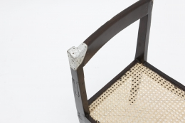 Pierre Jeanneret's set of 8 demountable chairs detailed view of single chair