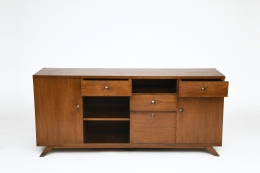 Pierre Jeanneret's sideboard, full straight view from above with some drawers open