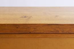 "Pierre Chapo's ""Le Pettit"" sideboard detail view of oak wood frame"