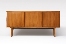 Charlotte Perriand & Pierre Jeanneret's Sideboard, Equipement de la Maison, full straight view with both doors closed