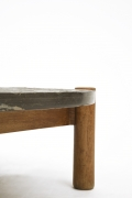 Charlotte Perriand's slate coffee table, detailed view of leg