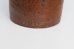 Jean and Jacqueline Lerat's vase, detailed view of signature on bottom