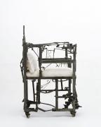 Sylvain Contini's sculptural armchair side view